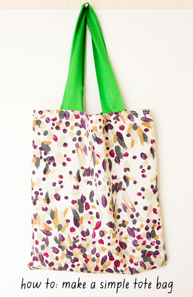 learn how to make a simple tote bag