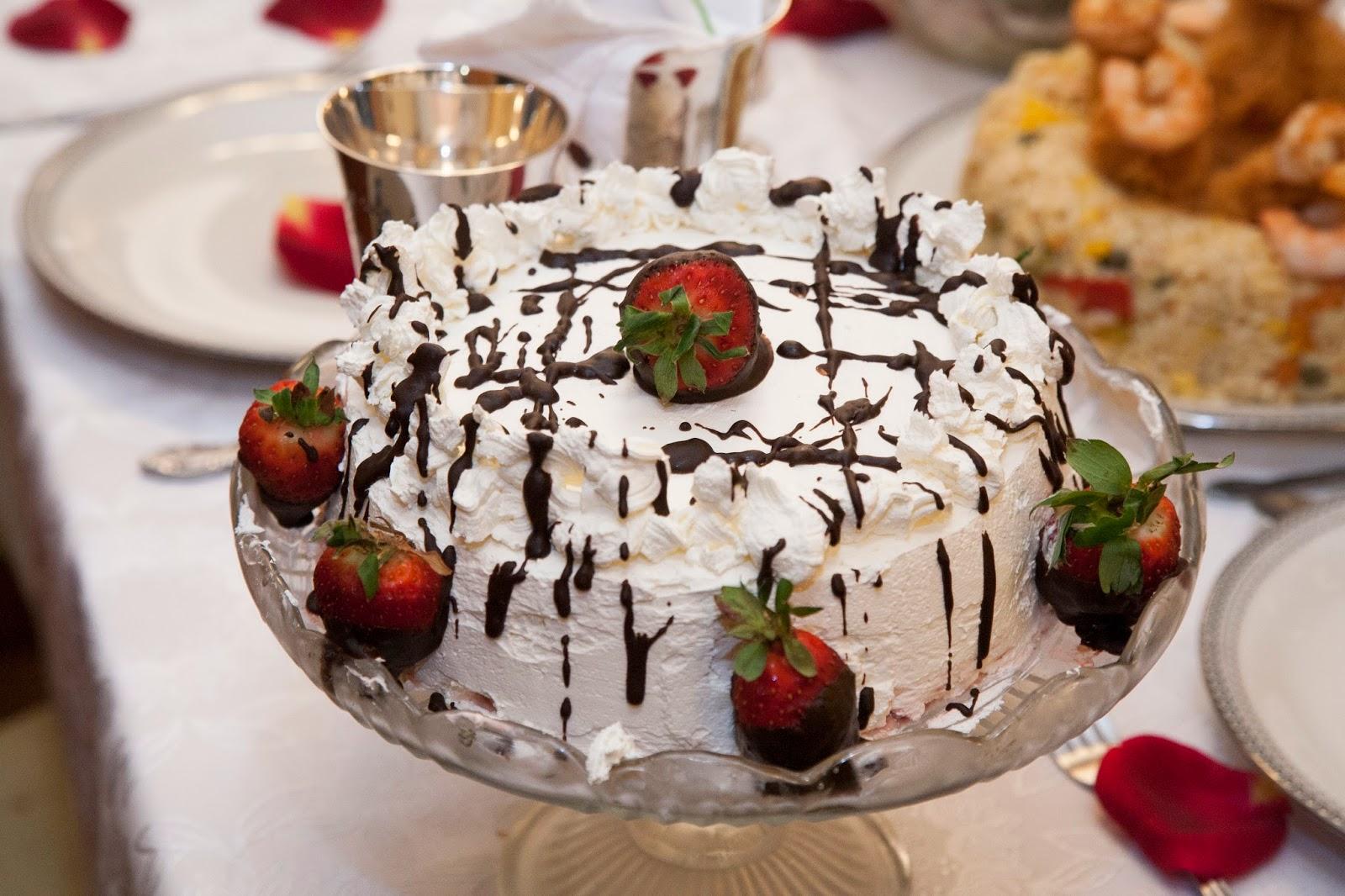 τουρτα σοκολατα – φράουλα νηστίσιμη