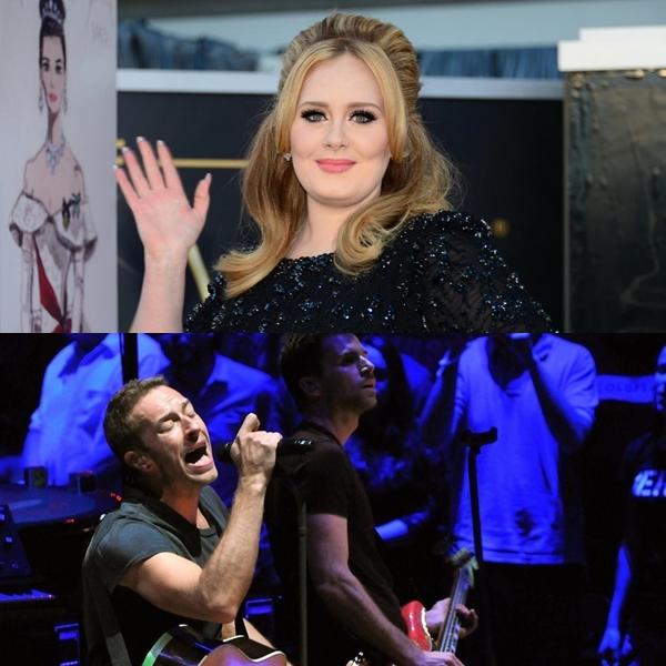 Adele le impidió un número uno a Coldplay