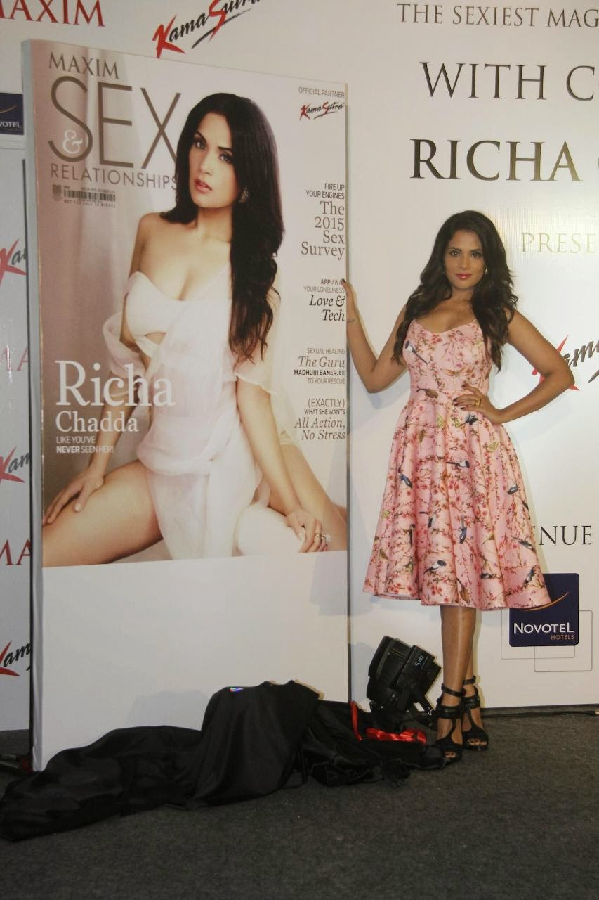 Richa Chadda Maxim Magazine Issue September 2014 Launch Stills