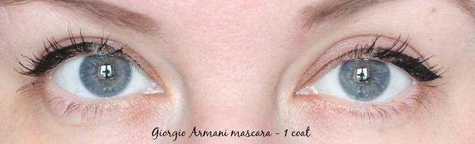 1 coat of giorgio armani eyes to kill mascara
