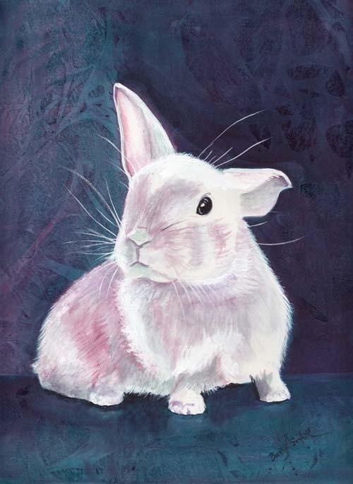 White rabbit painting - photo#5