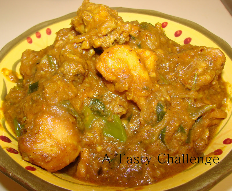 Green Chilly Chicken Masala