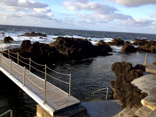 Ocean swimming in Terceira, Azores, Portugal, on Semi-Charmed Kind of Life