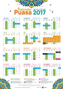 Kalender Puasa Wajib & Sunnah 2017 Untuk Ahli Surga