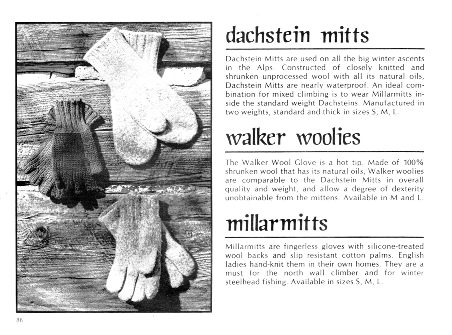 Fingerless gloves edmonton - Millarmitts Offered By Patagonia Circa 1975 Full Catalog Scan Here
