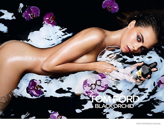 Cara Delevingne w kampanii Tom Ford Black Orchid Eau de Toilette
