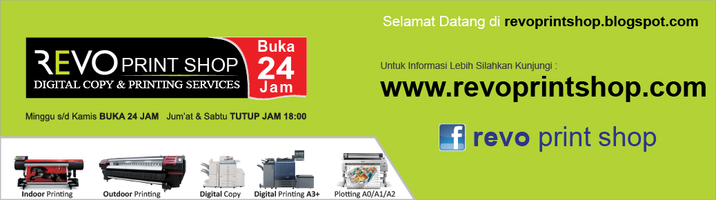 REVO Print Shop BUKA 24 JAM di Bintaro Jaya & Fatmawati Jakarta Selatan