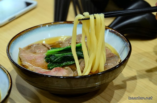 Check out the home made udon, with lots of bite to it