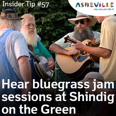 Asheville Insider Tip: Listen to Multiple Jam Sessions at Shindig on the Green.