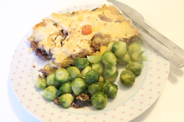 slimming world sp meal swede topped cottage pie and sprouts
