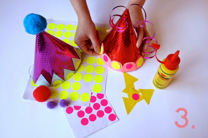 Kids Party Craft Ideas Part - 26: New Year Party Hats For Kids