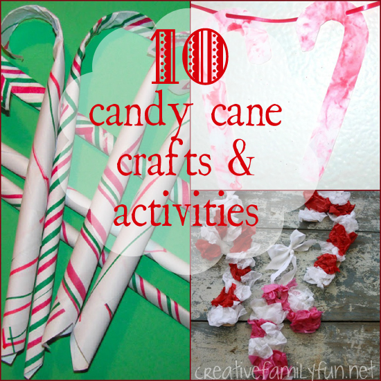 10 candy cane crafts activities - Christmas Candy Crafts