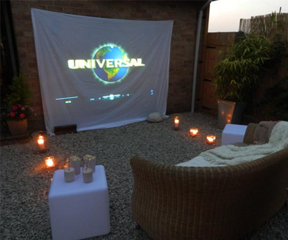 enthused monkey crafty diy outdoor cinema