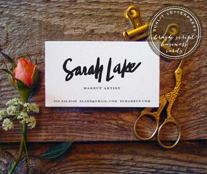 Custom brush script letterpress business cards sunlit letterpress custom brush script letterpress business cards colourmoves Gallery
