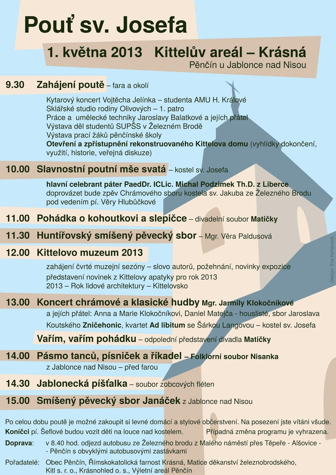 Pouť sv. Josefa na Krásné 1. 5. 2013 - plakát