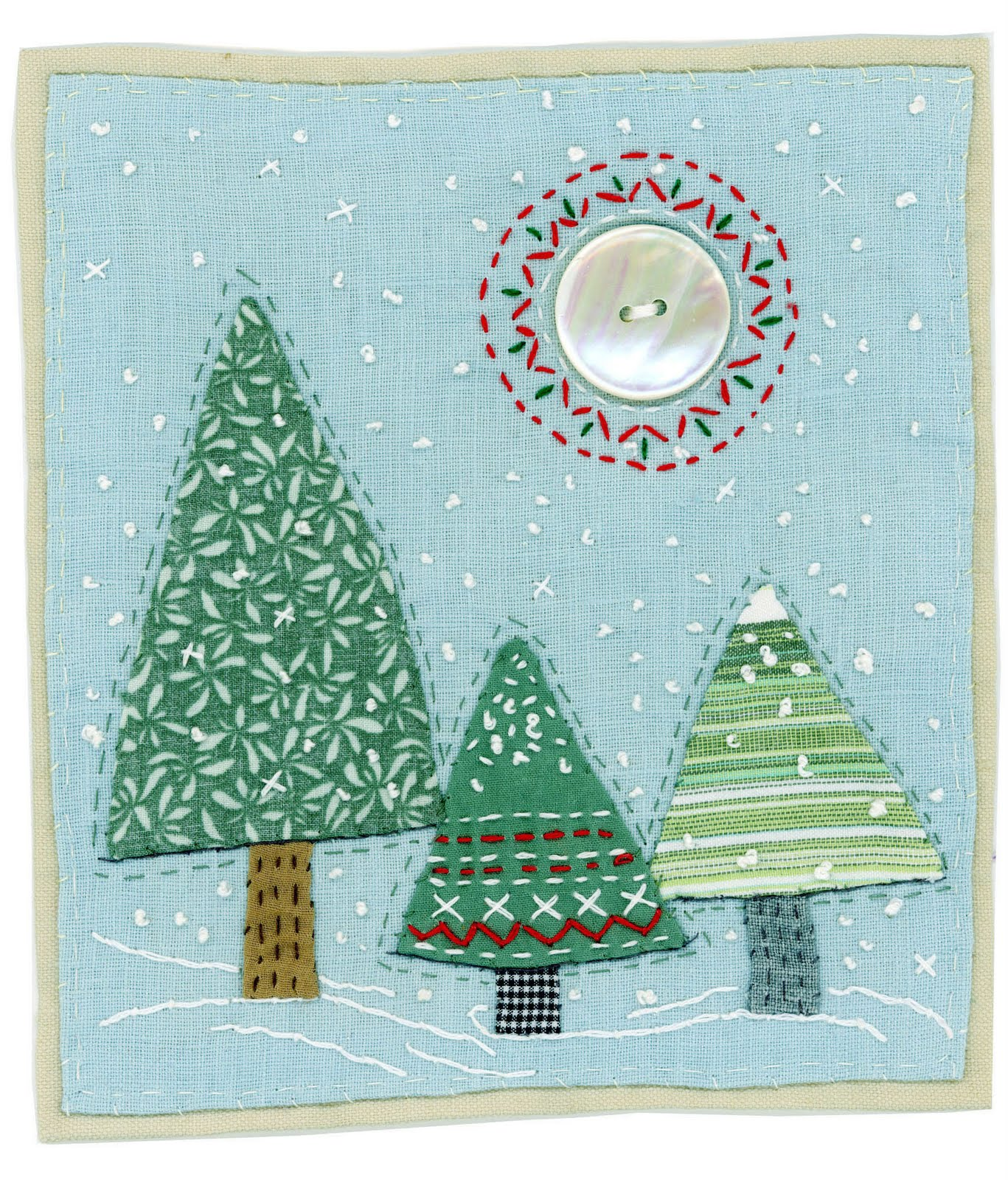 Sharon blackman looking towards christmas for Applique decoration