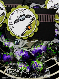Cute Batty Halloween Treats by Bekka - buy everything you need to make this project (except the Chocolate!) at www.feeling-crafty.co.uk