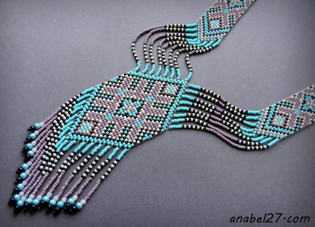 split loom necklace beadwork beadweaving jewerly