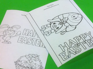 Easter Candy Bar Wrapper Coloring Page