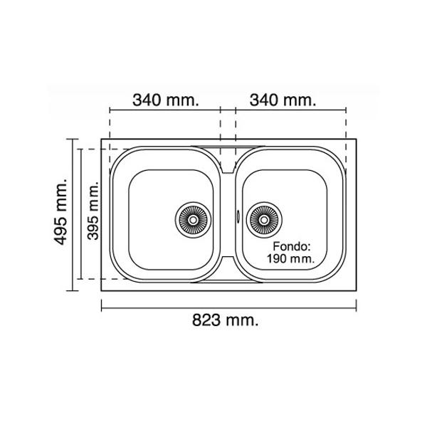 Medidas De Un Baño En Planta:de encastre 475 x 800 mm gran variedad de colores aditivo especial