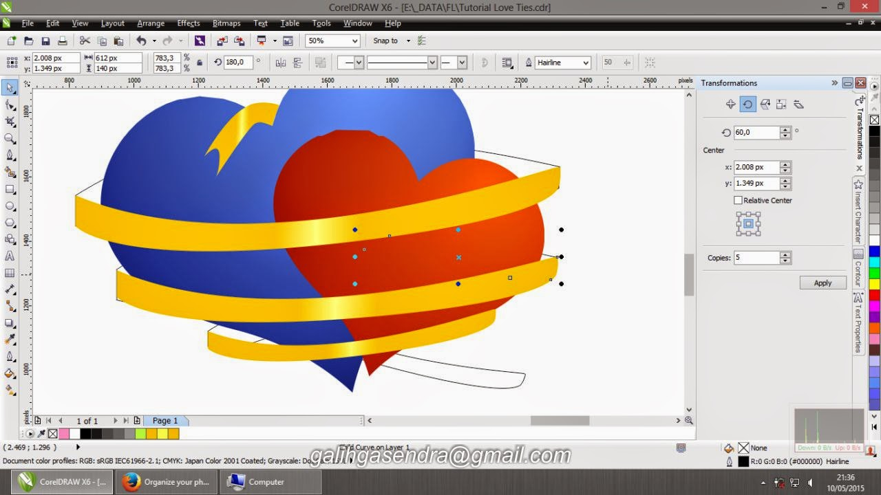coreldraw tutorial love ties coreldraw tutorials rh cdrtutorials blogspot com Drawing Tutorials CorelDRAW Examples