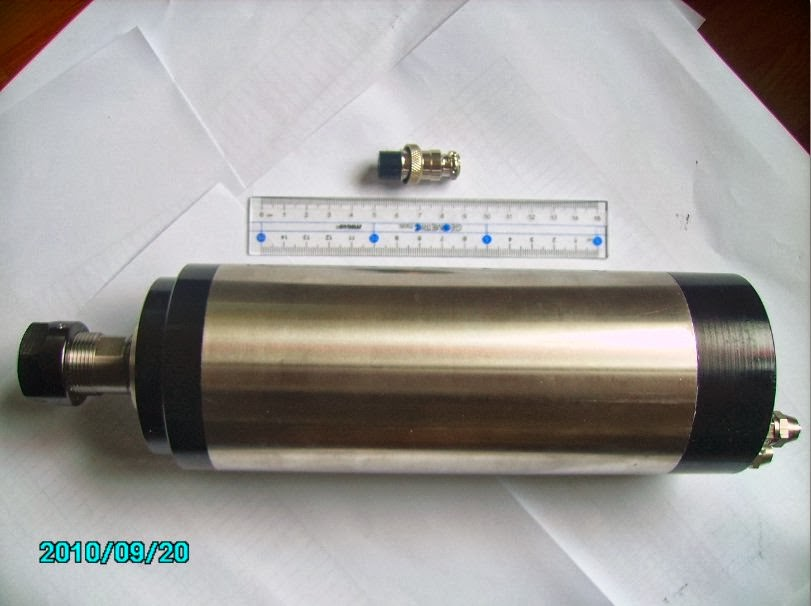 Cnc spindle air cooled and water cooled sai krupa imports for Liquid cooled ac motor