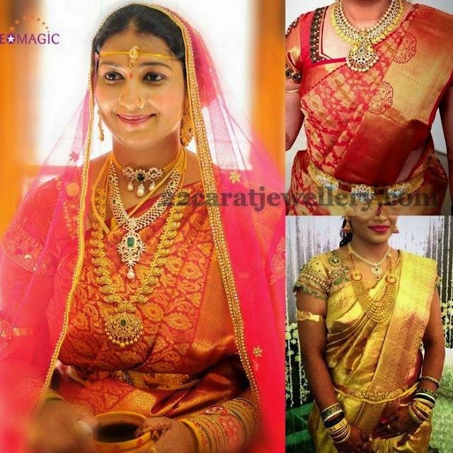 Brides in Mango Mala Designs