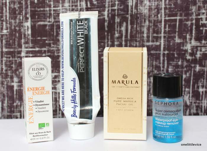 one litlte vice beauty blog: new toothpaste, cleanser, facial oil and energy serum