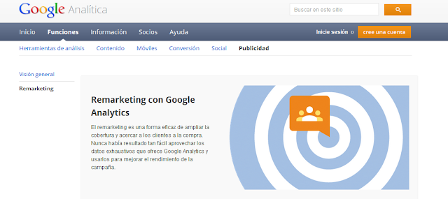 Configurar listas de remarketing con información de Analytics