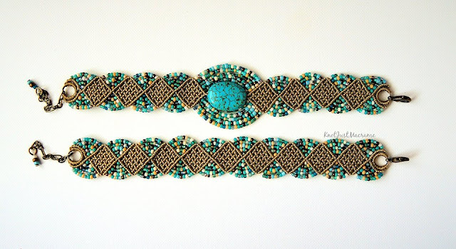Woven Diamonds micro macrame bracelet options.