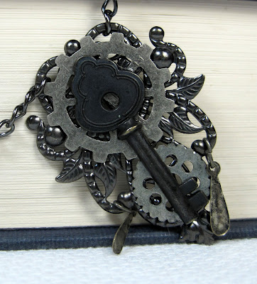 Steampunk Style Clockwork Key Necklace