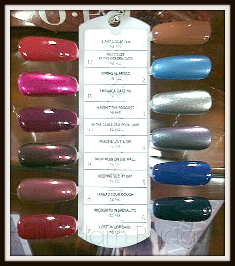 SF OPI Swatches
