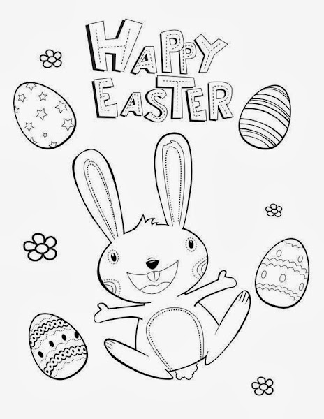 Happy Easter Coloring Pages Printable Free