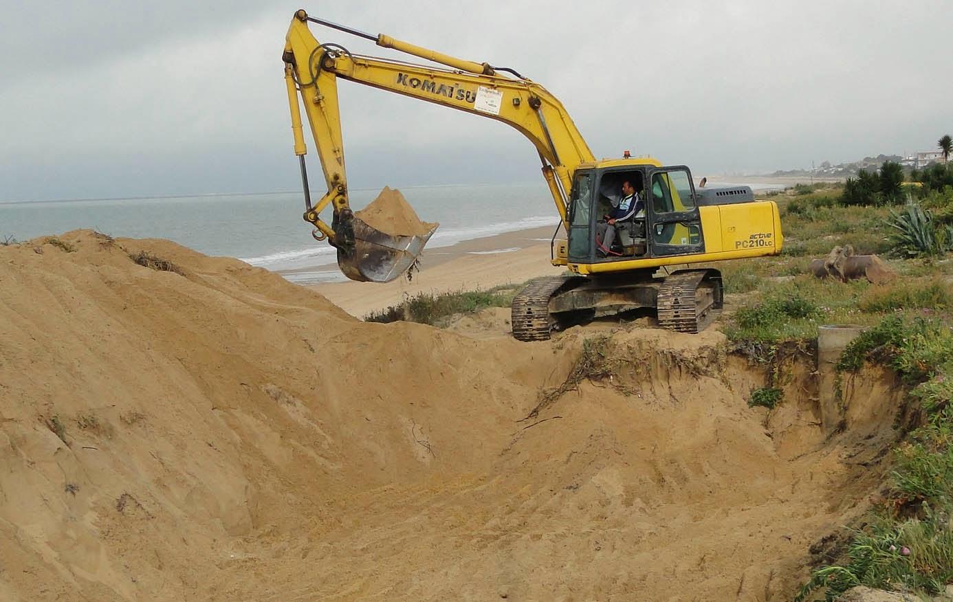 MAZAGÓN BEACH : Se reanudan las obras del último tramo del colector ...