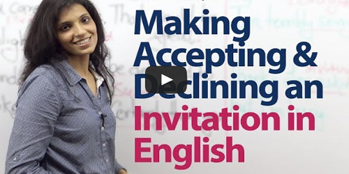 formal and informal invitation in english Video Tutorial