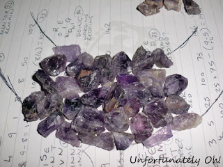 how to make a DIY amethyst collar