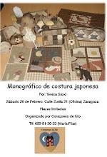 monografico de costura japonesa y aplicación invertida impartido por Teresa Saco