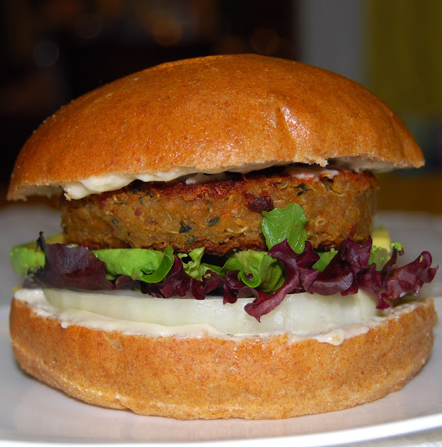 Quinoa and Bean Burger, gluten-free and vegan
