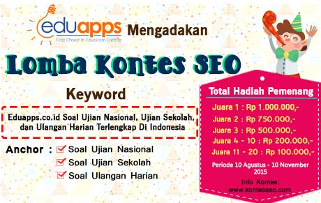 KontesSEO.com - KontesSEO EduApps.co.id Soal Ujian Nasional, Ujian Sekolah dan Ulangan Harian Terlengkap Di Indonesia