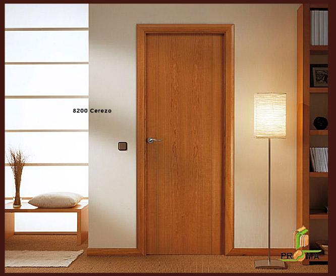 Puerta 8200 en cerezo de la serie vega puertas proma for Puerta 8500 proma