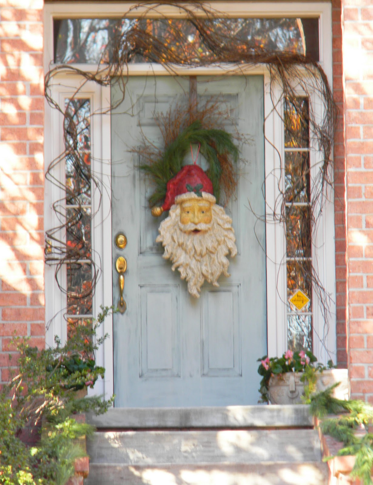 Holiday front door for Door garland christmas