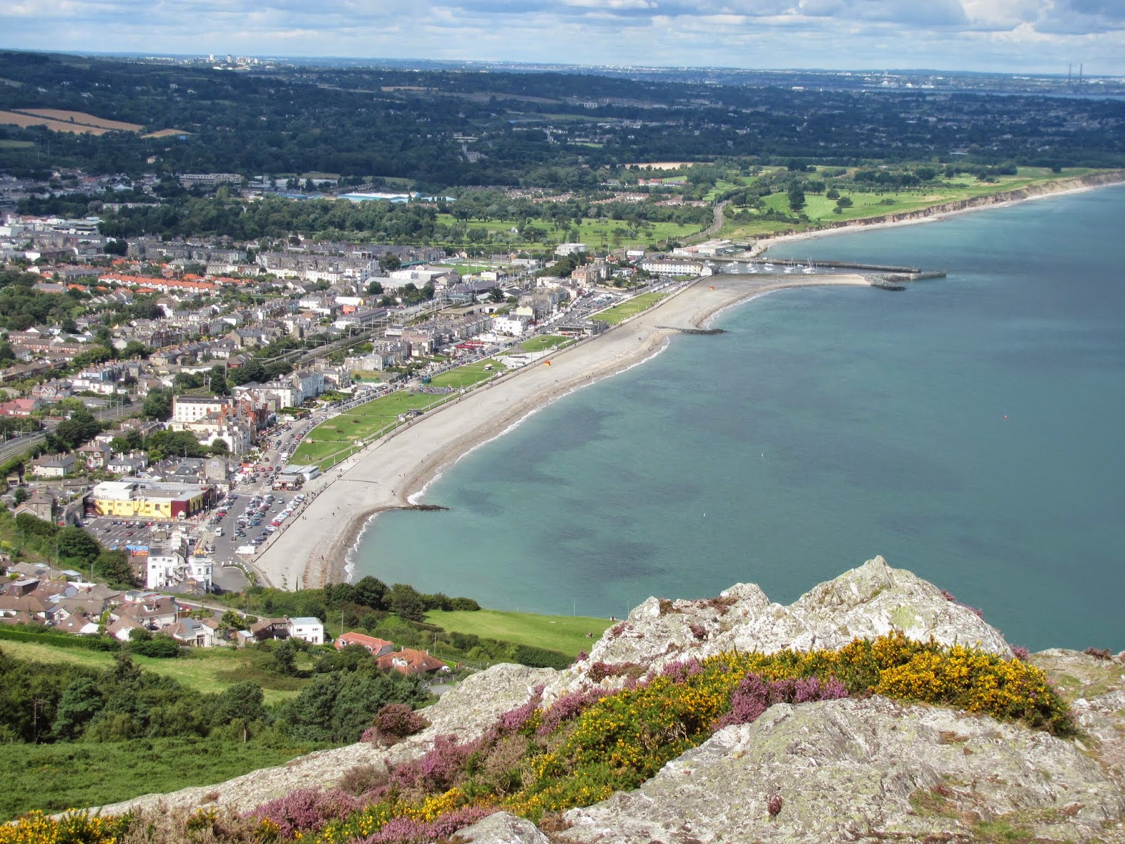 Bray Town from the top of Bray Head, Ireland
