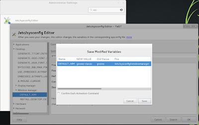 openSUSE 13.1 Milestone 4, GNOME live ISO etc sysconfig