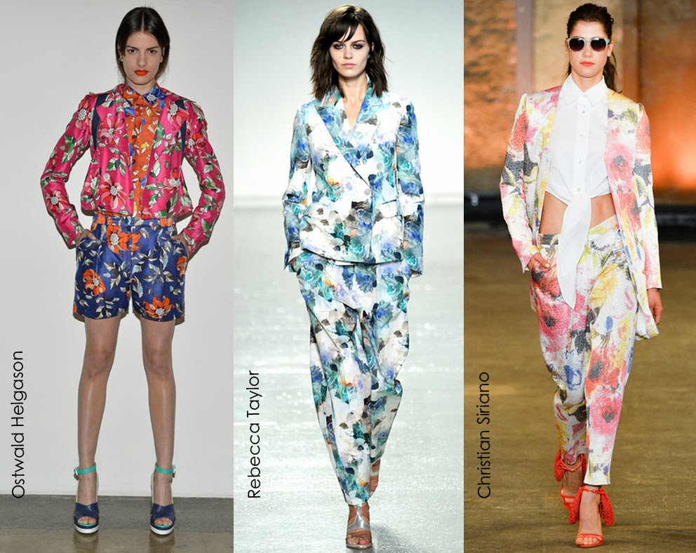 Inspected Trend: Floral Suiting Ostwald Helgason, Rebecca Taylor, Christian Sirano