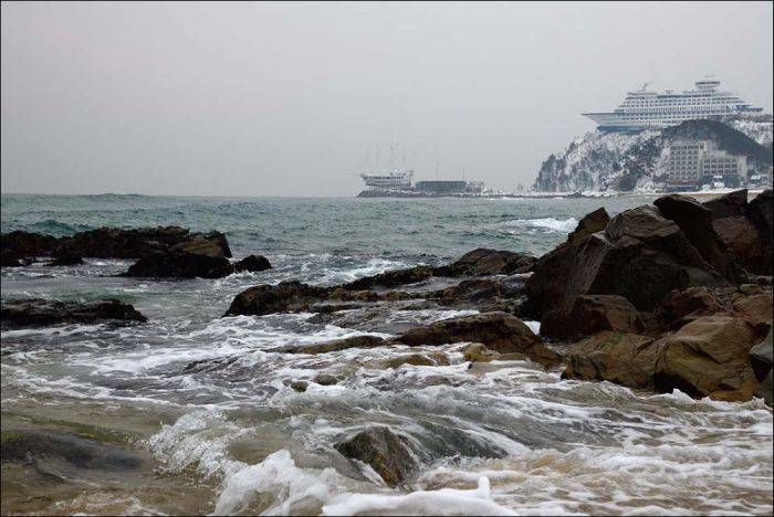 Sun Cruise Ship at Jeongdongjin Beach