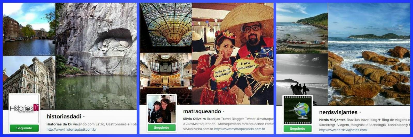 Instagram de blogs de viagem