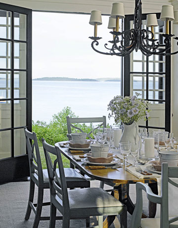 Coastal shore creations french door love and a happy new year for Llwyn y brain dining room