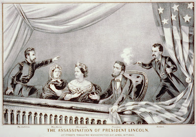 Currier and Ives engraving of the Lincoln assassination