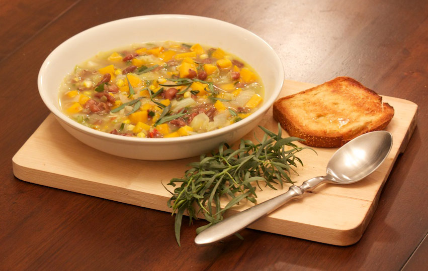 The Rowdy Radish: Sweet Potato, Cabbage and Pinto Bean Soup Recipe
